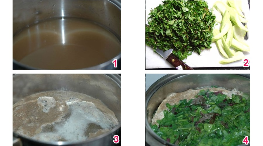 nấu canh cua rau đay